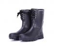 男裝黑色鞋帶BOOT款中筒雨靴